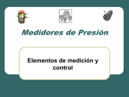 Medidores de Presión - MSc. Alba Veranay Díaz