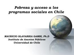 Pobreza y acceso a los programas sociales en Chile