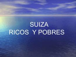 SUIZA RICOS Y POBRES - Blog de la Geary | Esc.