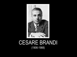 CESARE BRANDI (1906
