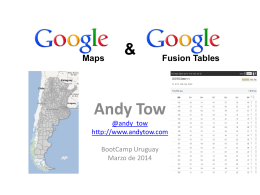 Maps + Fusion Tables