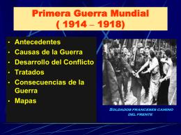 Primera Guerra Mundial - LICEO CAMILO HENRIQUEZ -