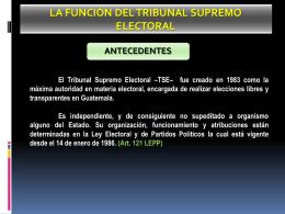 La Función del Tribunal Supremo Electoral