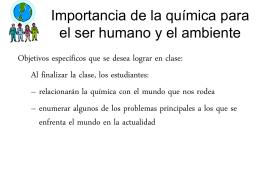 Importancia de la química para el ser humano y el