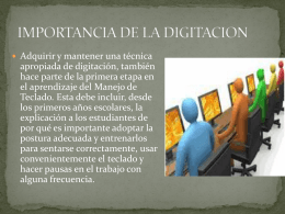 IMPORTANCIA DE LA DIGITACION