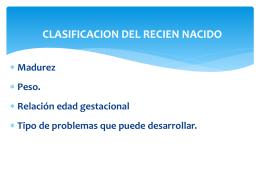 CLASIFICACION DEL RECIEN NACIDO
