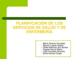 PLANIFICACIÓN DE LOS SERVICIOS DE SALUD Y DE