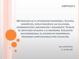 Metodología de la optimización ergonómica.