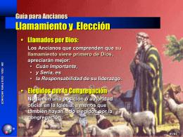 Guía para Ancianos Llamamiento y Elección
