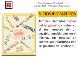 VICIOS IDIOMÁTICOS