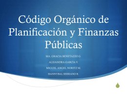 Código Orgánico de Planificación y Finanzas