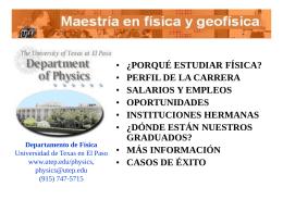 Licenciatura de Física y de Física Aplicada
