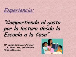 Diapositiva 1 - La Lectoescritura