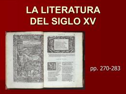 LA LITERATURA DEL SIGLO XV - arsliteratura -