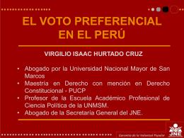 El voto preferencial en el Perú - Inicio