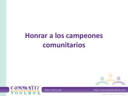 Honoring Community Champions