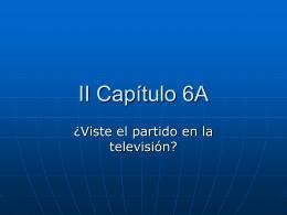 II Capítulo 6A