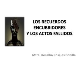 LOS RECUERDOS ENCUBRIDORES Y LOS ACTOS FALLIDOS