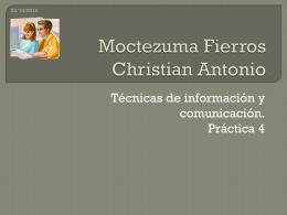 Moctezuma Fierros Christian Antonio