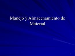 Manejo y Almacenamiento de Material