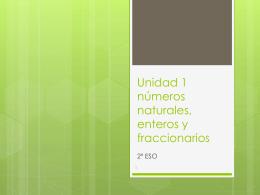 Unidad 1 números enteros - matessek