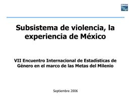 Subsistema de violencia, la experiencia de México