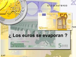 ¿Los euros se evaporan? - BLOG DE MATEMÁTICAS DE