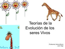 Teorías de la Evolución de los seres Vivos