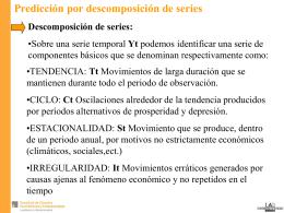 ANÁLISIS PRIMARIO DE SERIES TEMPORALES