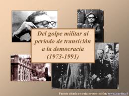 Del golpe militar a la democracia