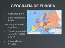 GEOGRAFÍA DE EUROPA - La morera de Elena Martin