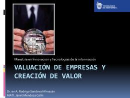 Valuación de empresas y creación de valor