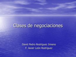 Clases de negociaciones