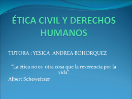 ETICA CIVIL Y DERECHO HUMANOS