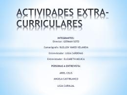 ACTIVIDADES EXTRA