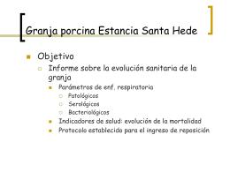 Granja porcina Estancia Santa Hede