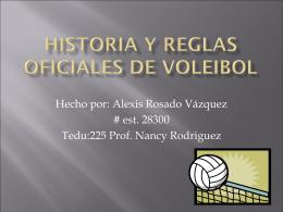 Historia y reglas oficiales de voleibol