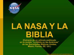 La Nasa y la Biblia - Contenidos Cristianos