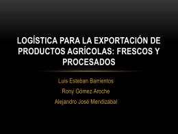 Logística para la exportación de productos