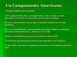 Un campamento Americano