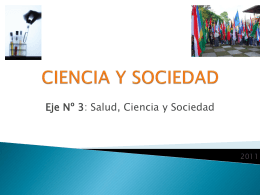 CIENCIA Y SOCIEDAD