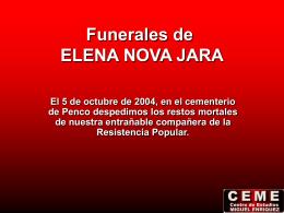 Funerales de ELENA NOVA JARA