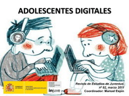 ADOLESCENTES DIGITALES - Injuve, Instituto de la