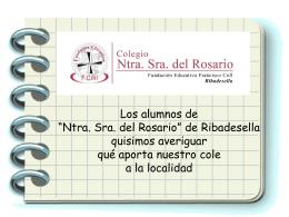 """Los alumnos de Ntra. Sra. del Rosario"""" de"""