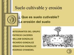 Suelo cultivable y erosión