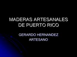 MADERAS ARTESANALES DE PUERTO RICO