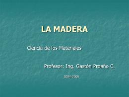 LA MADERA - DSpace en ESPOL