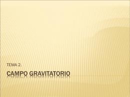 CAMPO GRAVITATORIO - fyqcar | Blog de Física y