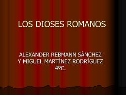 LOS DIOSES ROMANOS - ALUMNOS20112012
