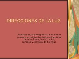 DIRECCIONES DE LA LUZ